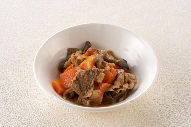 きのこと牛肉の甘辛煮